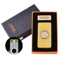 USB зажигалка-слайдер в подарочной упаковке Lighter (Спираль накаливания) №HL-11 Gold