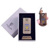 """USB зажигалка в подарочной упаковке """"Герб Украины"""" (Двухсторонняя спираль накаливания) №4795"""