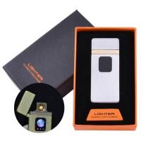 USB запальничка в подарунковій упаковці Lighter (Спіраль розжарювання) №HL-7 White