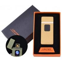 USB зажигалка в подарочной упаковке Lighter (Спираль накаливания) №HL-7 Gold