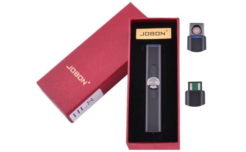 USB запальничка в подарунковій упаковці Jobon (Спіраль розжарювання) №HL-8 Black