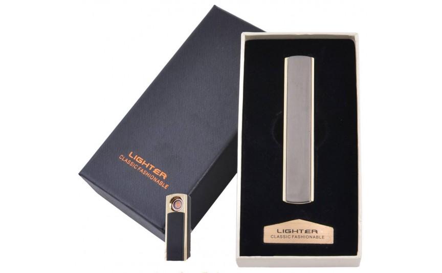 USB  зажигалка в подарочной упаковке Lighter (Cпираль накаливания) №4872-5