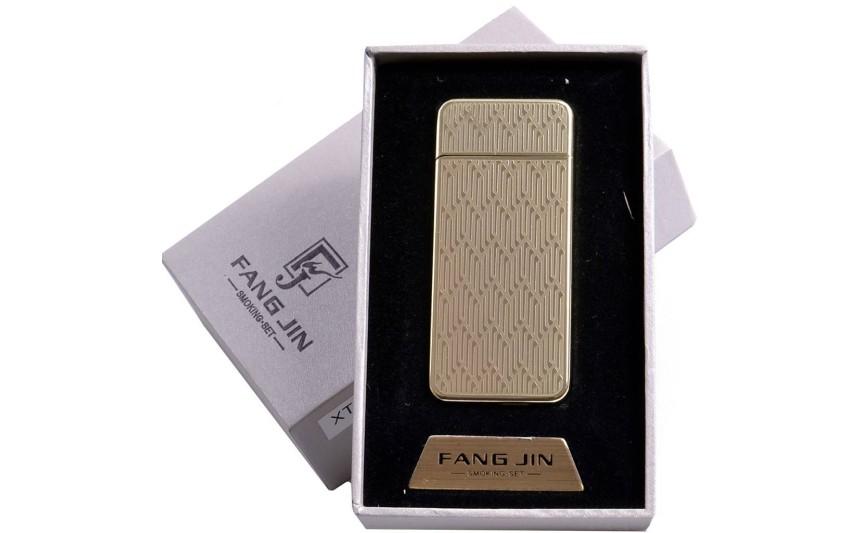 """USB зажигалка в подарочной упаковке """"Абстракция"""" (спираль накаливания) №4796В-2"""