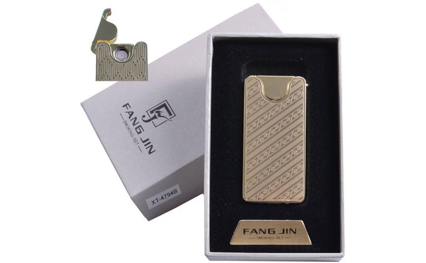 """USB запальничка в подарунковій упаковці """"Абстракція"""" (спіраль розжарювання) №4794B-4"""