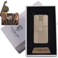 """USB зажигалка в подарочной упаковке """"Абстракция"""" (спираль накаливания) №4794С-2"""