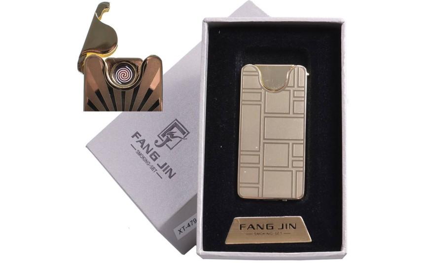 """USB зажигалка в подарочной упаковке """"Абстракция"""" (спираль накаливания) №4794С-4"""