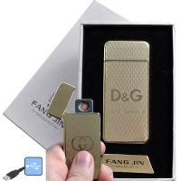 """USB запальничка в подарунковій упаковці """"Dolce Gabbana"""" (спіраль розжарювання) №4796A-3"""