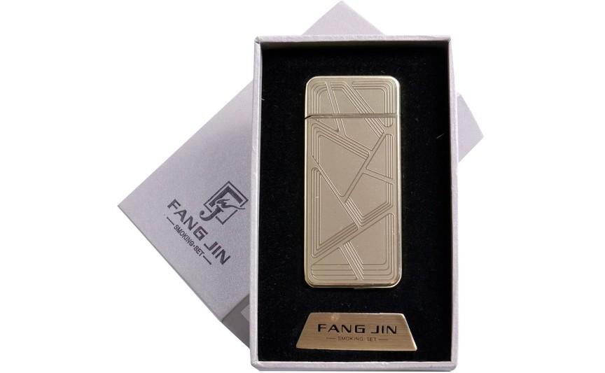 """USB зажигалка в подарочной упаковке """"Абстракция"""" (спираль накаливания) №4796В-1"""