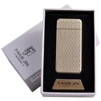 """USB зажигалка в подарочной упаковке """"Абстракция"""" (спираль накаливания) №4796В-3"""
