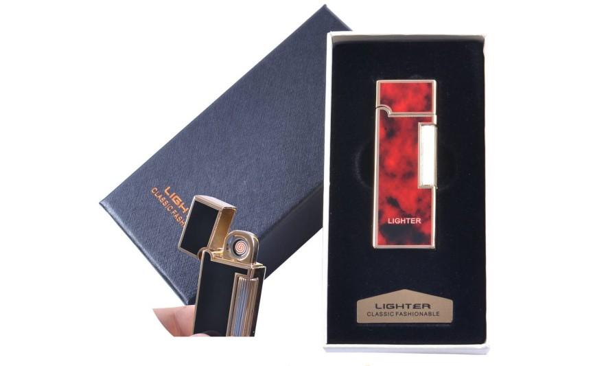 """USB зажигалка в подарочной упаковке """"LIGHTER"""" (Двухсторонняя спираль накаливания) №4870-1"""
