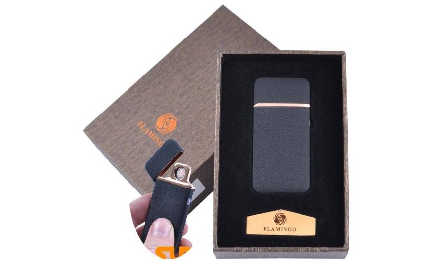 """USB запальничка в подарунковій упаковці """"Flamingo"""" (Двостороння спіраль розжарювання) №XT-4880-4"""