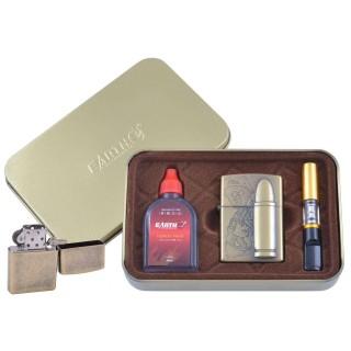 Зажигалка бензиновая в подарочной коробке (Баллончик бензина/Мундштук) Патрон №XT-4932-1