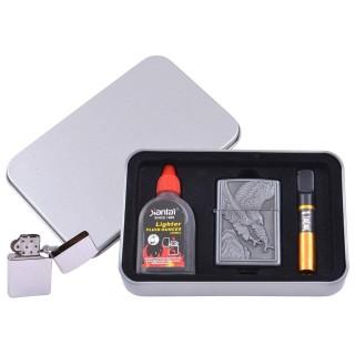 Зажигалка бензиновая в подарочной коробке (Баллончик бензина/Мундштук) Пикирующий Орел №XT-4711-5