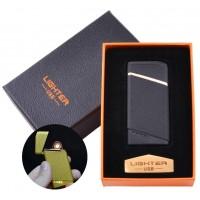 USB запальничка в подарунковій упаковці Lighter (Спіраль розжарювання) №HL-18 Black