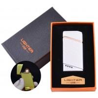 USB запальничка в подарунковій упаковці Lighter (Спіраль розжарювання) №HL-18 White