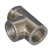 Трійник з нержавіючої сталі з термоізоляцією нерж / нерж (87 °) d 140/200