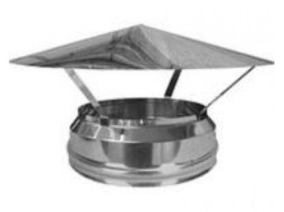 Грибок термо для димоходу з термоізоляцією з нержавіючої сталі d 160/220