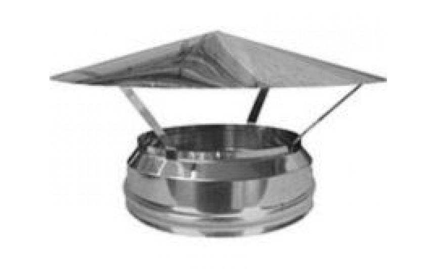 Грибок термо для дымохода с термоизоляцией из нержавеющей стали d 160/220