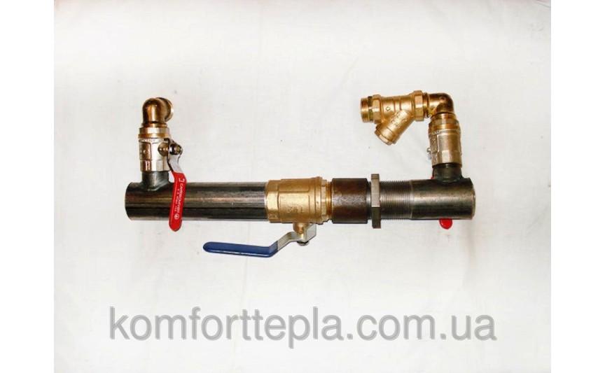 Байпас с краном Ø 50 для систем отопления (короткий)
