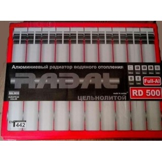 Алюминиевый радиатор Radal 500*80