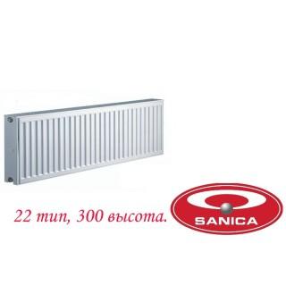 Стальной панельный радиатор Sanica pkkp 22 300×1000
