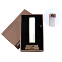 USB запальничка в подарунковій упаковці (спіраль розжарювання, золотий) №4822-5