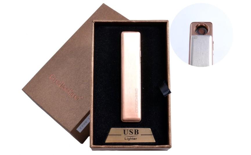 USB зажигалка в подарочной упаковке (спираль накаливания, оранжевый) №4822-4