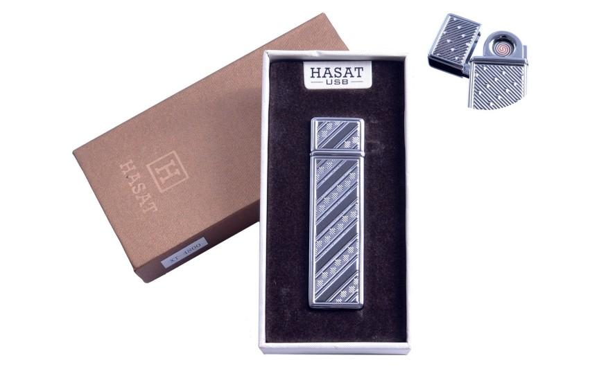 """USB зажигалка в подарочной упаковке """"Hasat"""" (Двухсторонняя спираль накаливания) №4800-1"""
