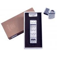 """USB зажигалка в подарочной упаковке """"Hasat"""" (Двухсторонняя спираль накаливания) №4800-2"""