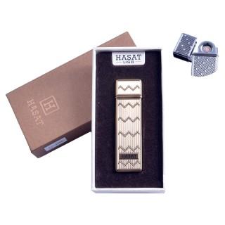 """USB запальничка в подарунковій упаковці """"Hasat"""" (Двостороння спіраль розжарювання) №4800-3"""