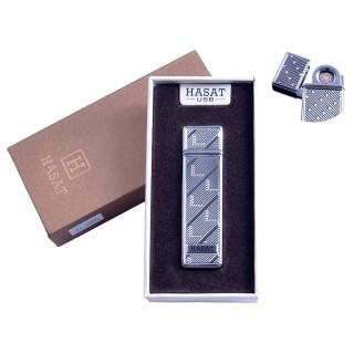 """USB запальничка в подарунковій упаковці """"Hasat"""" (Двостороння спіраль розжарювання) №4800-7"""