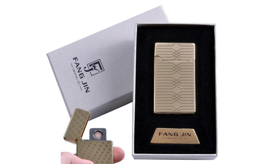 """USB зажигалка в подарочной упаковке """"Абстракция"""" (Двухсторонняя спираль накаливания) №4798C-1"""