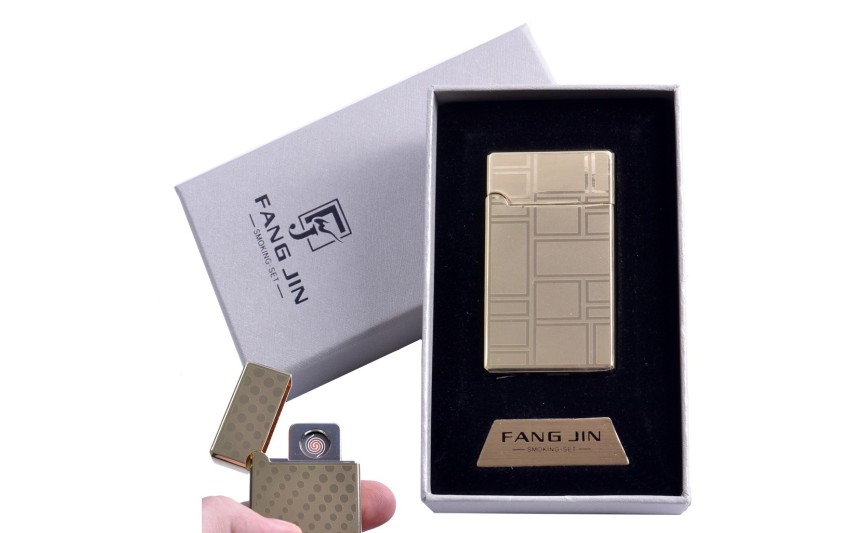"""USB зажигалка в подарочной упаковке """"Абстракция"""" (Двухсторонняя спираль накаливания) №4798C-2"""