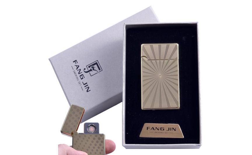 """USB запальничка в подарунковій упаковці """"Абстракція"""" (Двостороння спіраль розжарювання) №4798C-3"""