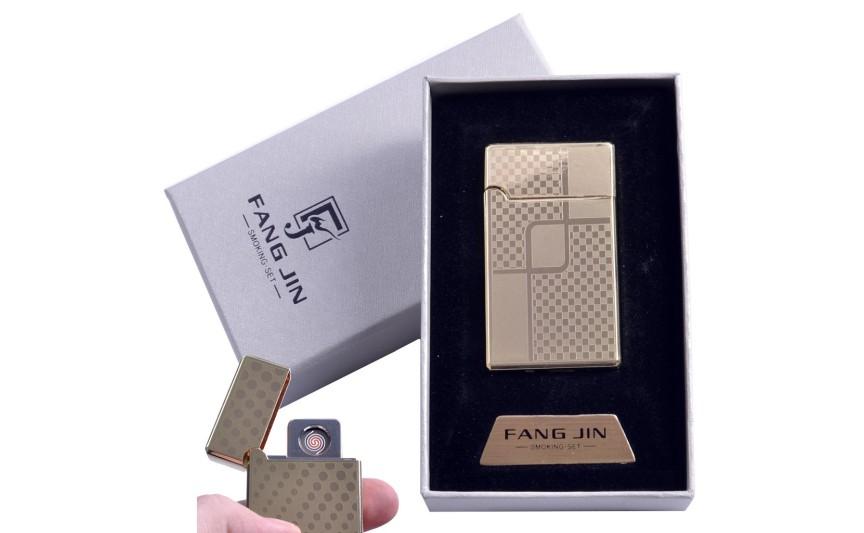 """USB запальничка в подарунковій упаковці """"Абстракція"""" (Двостороння спіраль розжарювання) №4798C-4"""
