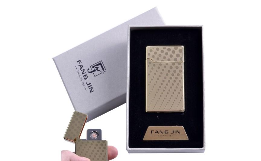 """USB зажигалка в подарочной упаковке """"Абстракция"""" (Двухсторонняя спираль накаливания) №4798C-5"""