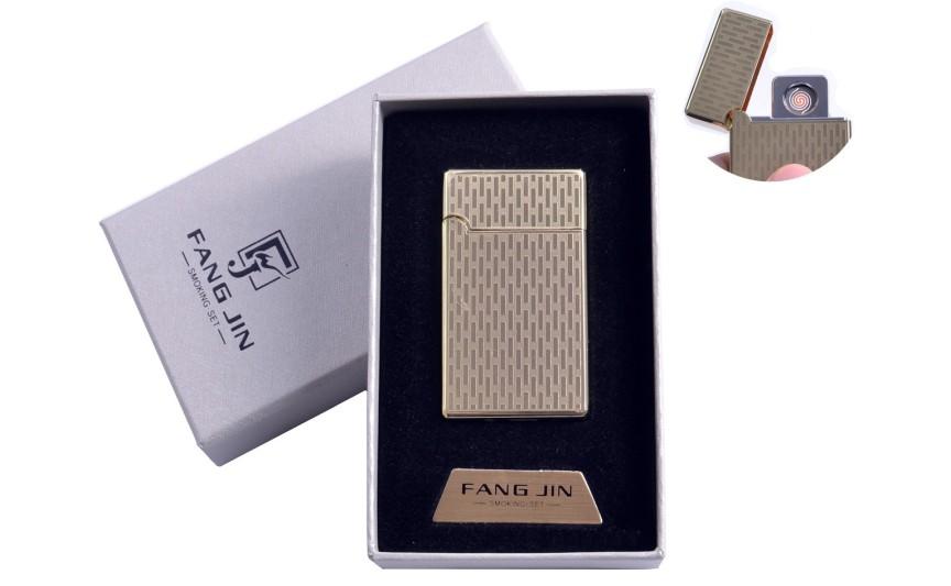 """USB зажигалка в подарочной упаковке """"Абстракция"""" (Двухсторонняя спираль накаливания) №4798B-3"""