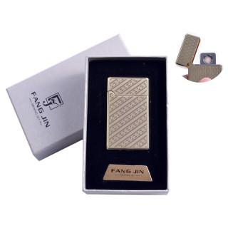 """USB зажигалка в подарочной упаковке """"Абстракция"""" (Двухсторонняя спираль накаливания) №4798B-4"""