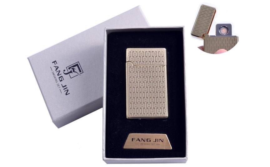 """USB зажигалка в подарочной упаковке """"Абстракция"""" (Двухсторонняя спираль накаливания) №4798B-5"""
