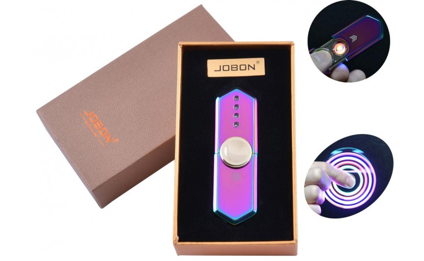 USB зажигалка-спиннер в подарочной упаковке Jobon (Спираль накаливания) №HL-10 Хамелеон