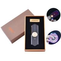 USB зажигалка-спиннер в подарочной упаковке Jobon (Спираль накаливания) №HL-10 Black