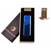 USB зажигалка в подарочной упаковке (Две спирали накаливания) №4863 Синий