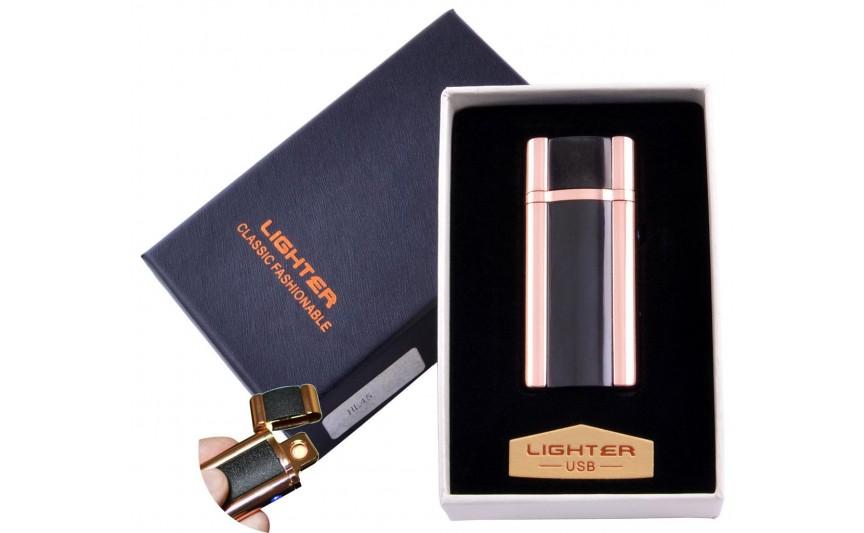 USB зажигалка в подарочной упаковке Lighter (Спираль накаливания) №HL-45-4