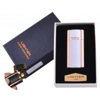USB зажигалка в подарочной упаковке Lighter (Спираль накаливания) №HL-46-3