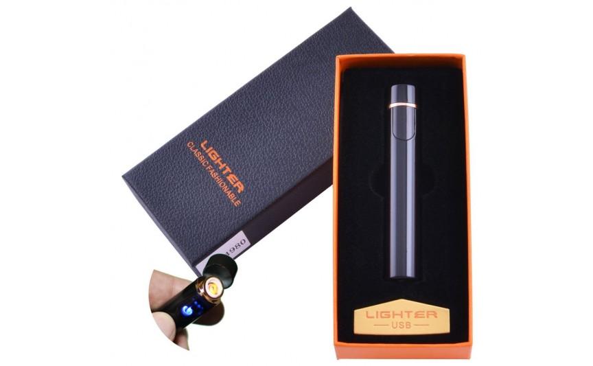 USB зажигалка в подарочной упаковке Lighter (Спираль накаливания) №XT-4980 Black