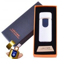 USB  зажигалка в подарочной упаковке Lighter (Спираль накаливания) №HL-43 White
