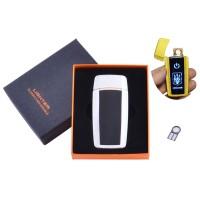 USB  зажигалка в подарочной упаковке Украина (Спираль накаливания) №HL-56 White