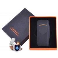 USB  зажигалка в подарочной упаковке Lighter (Спираль накаливания) №HL-57 Black