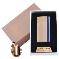 USB  зажигалка в подарочной упаковке Lighter (Спираль накаливания) №XT-4981 Gold