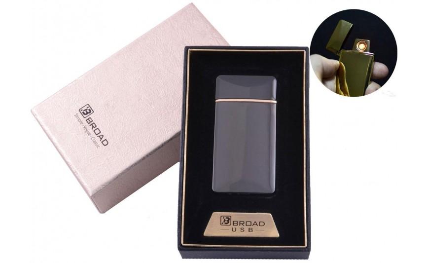 "USB зажигалка в подарочной упаковке ""Broad"" (Двухсторонняя спираль накаливания) №4851 Black"